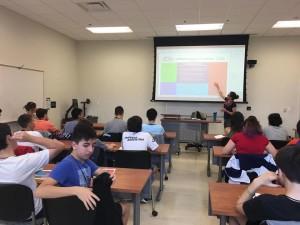 Nuestros alumnos en clase en UNCW
